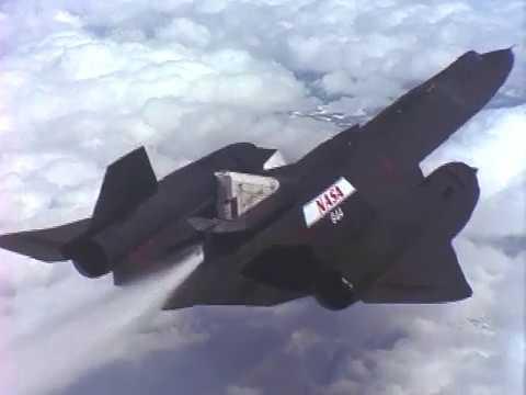SR-71 LASRE in Flight over California's Mojave Desert