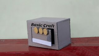 How To Make A Safe Locker From Cardboard With Smart Lock | DIY- Cardboard Locker