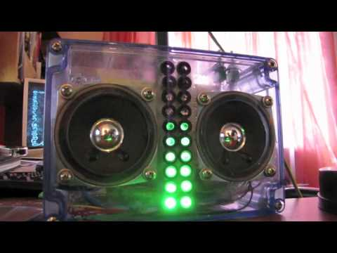 Battery powered stereo amp/LED VU