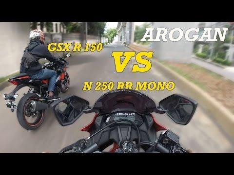 D'MOTOVLOG #63 - NINJA 250 RR MONO VS SUZUKI GSX-R 150 DRAG RACE