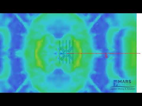 MARS Lagoon Diffuser CFD Study: Water Surface Animation