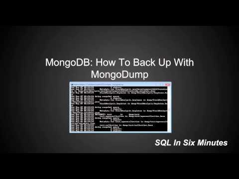 MongoDB: How To Backup With MongoDump