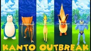 Pokemon Go Kanto Outbreak Event - 50+ Rarest Spawns