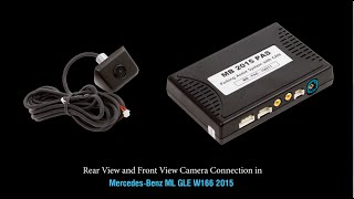 Rear View and Front View Camera Connection in Mercedes Benz NTG 5.0 / 5.1
