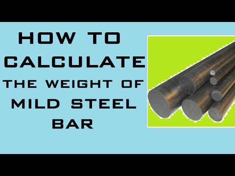 How To Calculate Weight Of Steel Bar