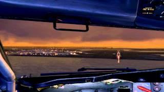 FSX: Realistic 727 landing @ Logan Intl