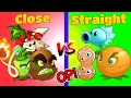 Plants vs Zombies 2 Straight vs Close Range - STRONG!!