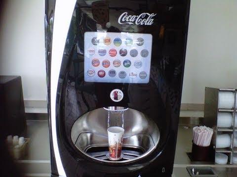 futuristic coke machine at burger king youtube