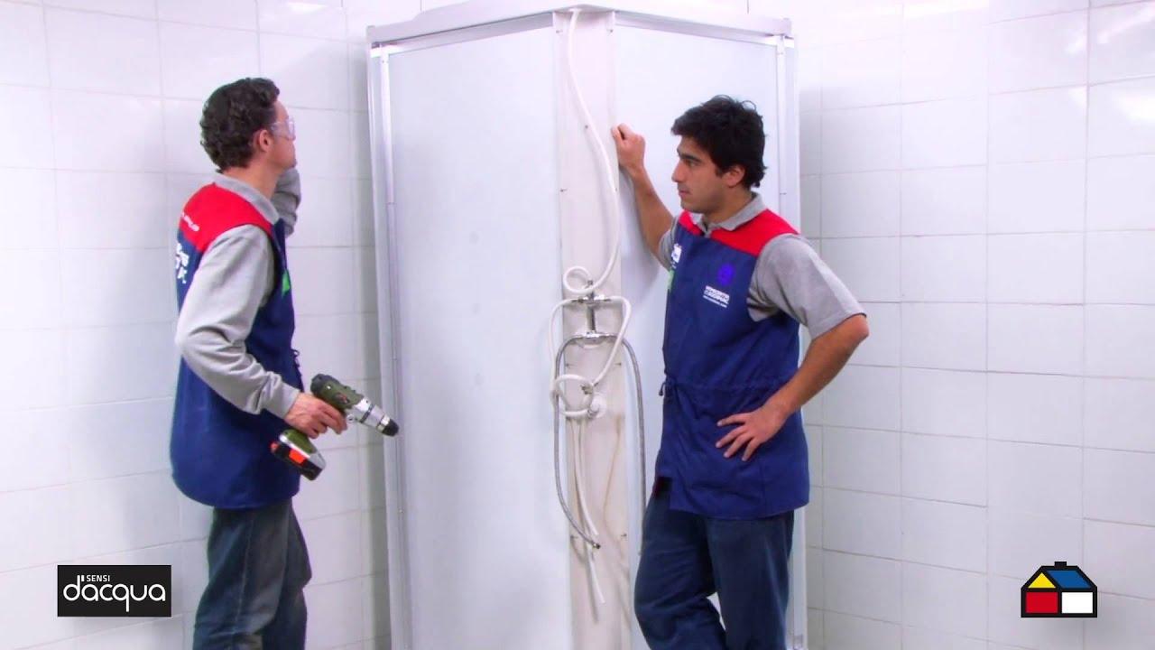 Instala una cabina para ducha youtube for Llaves para duchas sodimac