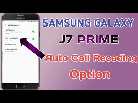 Samsung galaxy j7 prime auto call recording option🔥😱