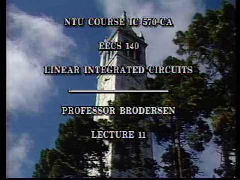 Analog Integrated Circuits (UC Berkeley) Lecture 16
