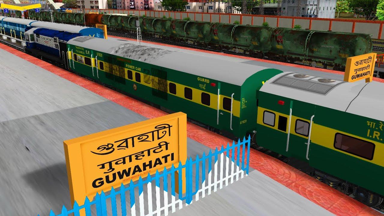 Shunting Kolkata - Guwahati Garib Rath Express In Indian Train Simulator In Open Rails