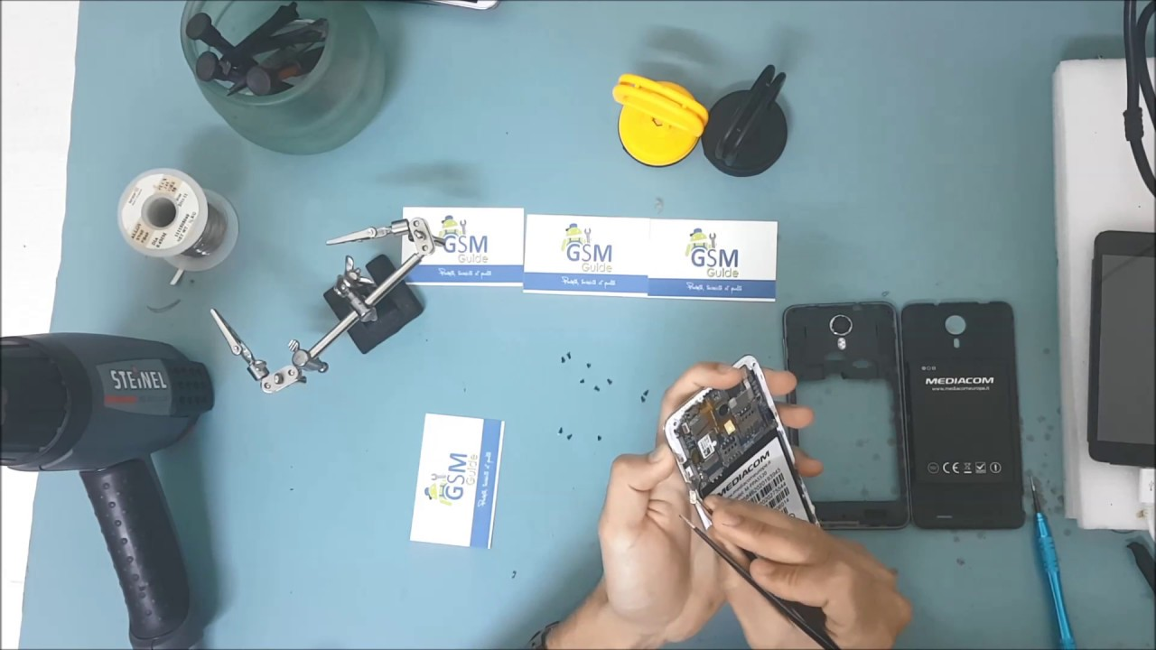 MEDIACOM PHONE PAD DUO S520S DISASSEMBLY FOR REPAIR