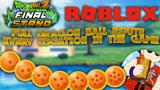 CADA DRAGON BALL SPAWN / UBICACION EN EL JUEGO - SUMMON SHENRON - Dragon Ball Z Final Stand ROBLOX