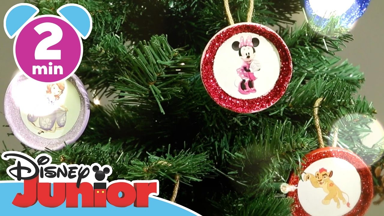 Christmas Craft Tutorials Christmas Tree Ornaments Disney Junior Uk