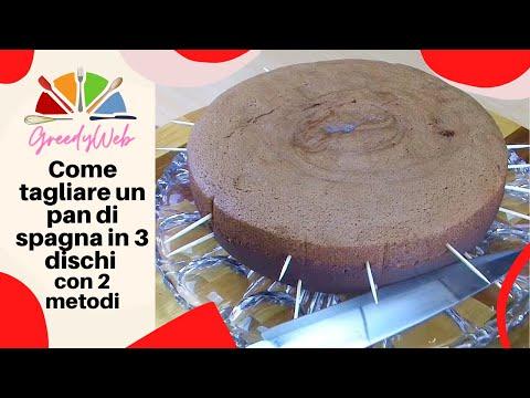 Come tagliare un pan di spagna in 3 dischi (2 metodi) di Greedy how to cut a cake in three layers