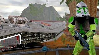 Star Wars Battlefront 2 Mods - Kashyyyk: Star Wars Episode III Map