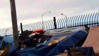 Homeless Sweep Salinas California 4/24/14