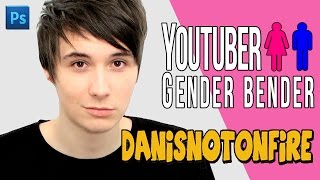 YOUTUBER GENDER BENDER ► Danisnotonfire as a woman?!