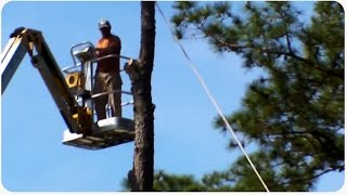 Worst Lumberjack Ever | Chainsaw Near Hit