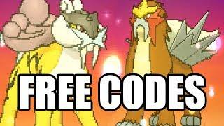 Pokemon Legendary Distribution - Raikou and Entei (FREE CODES)
