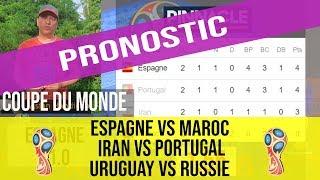 Pronostic Espagne vs Maroc, Iran vs Portugal, Uruguay vs Russie,  coupe de monde 2018 groupe B