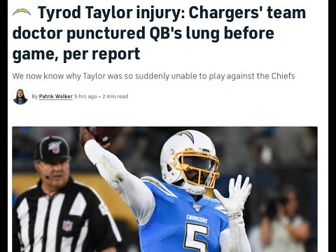 What happened to Tyrod Taylor? How a bizarre injury from Chargers ...