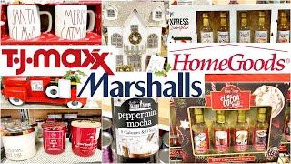 CHRISTMAS DECOR SHOP WITH ME // TJ MAXX, MARSHALLS, HOMEGOODS