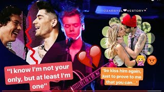ZARRY 💔 - JUST A LITTLE BIT OF YOUR HEART / HARRY'S REACTIONS TO ZAYN'S ENGAGEMENT/WEDDING QUESTIONS