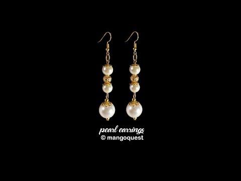 Pearl And Metal Bead Earrings Tutorial Fashion Jewellery DIY