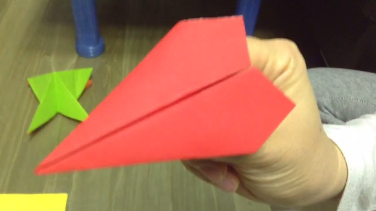������� ���� paper airplane origami youtube