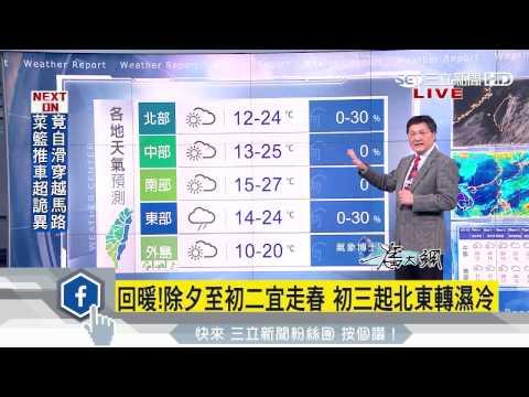 明下午起回暖 把握連三日晴朗天氣|三立準氣象|20170126|三立新聞台