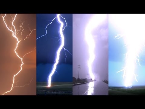 Download Youtube: CLOSE LIGHTNING STRIKES in Slow Motion & Anvil Crawler Lightning 2000 fps