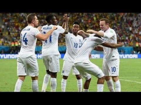 Uruguay 2-1 England ~ All Goals ( Suarez 2x. Rooney )