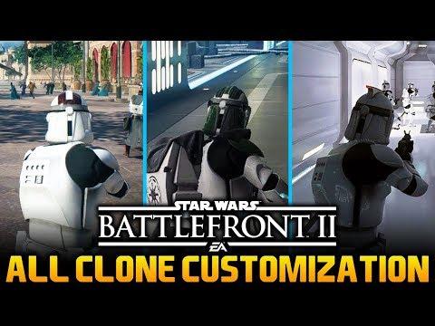 ALL CLONE TROOPER SKINS (Map Specific Skins): Star Wars Battlefront 2 Trooper Customization