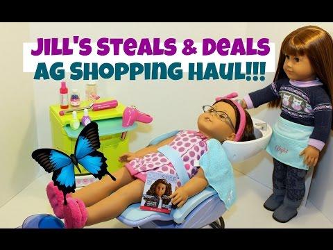 American Girl Haul   Part 1   Jill's Steals & Deals   Salon Spa Set   Huge Savings