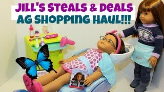 American Girl Haul Part 1 Jill's Steals & Deals Salon Spa Set Huge Savings