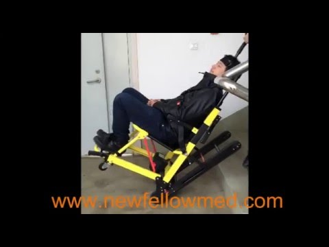 ELECTRIC CLIMBING CHAIR Electric Foldable Emergency Evacuation Stair Chair  Stretcher In China   YouTube