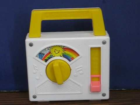 Sale Item Demo - Fisher Price 1981 Wind Up Music Box - Over the Rainbow