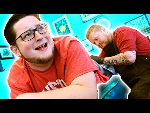 GETTING A TATTOO ON HIS BUTT?! (Painful)