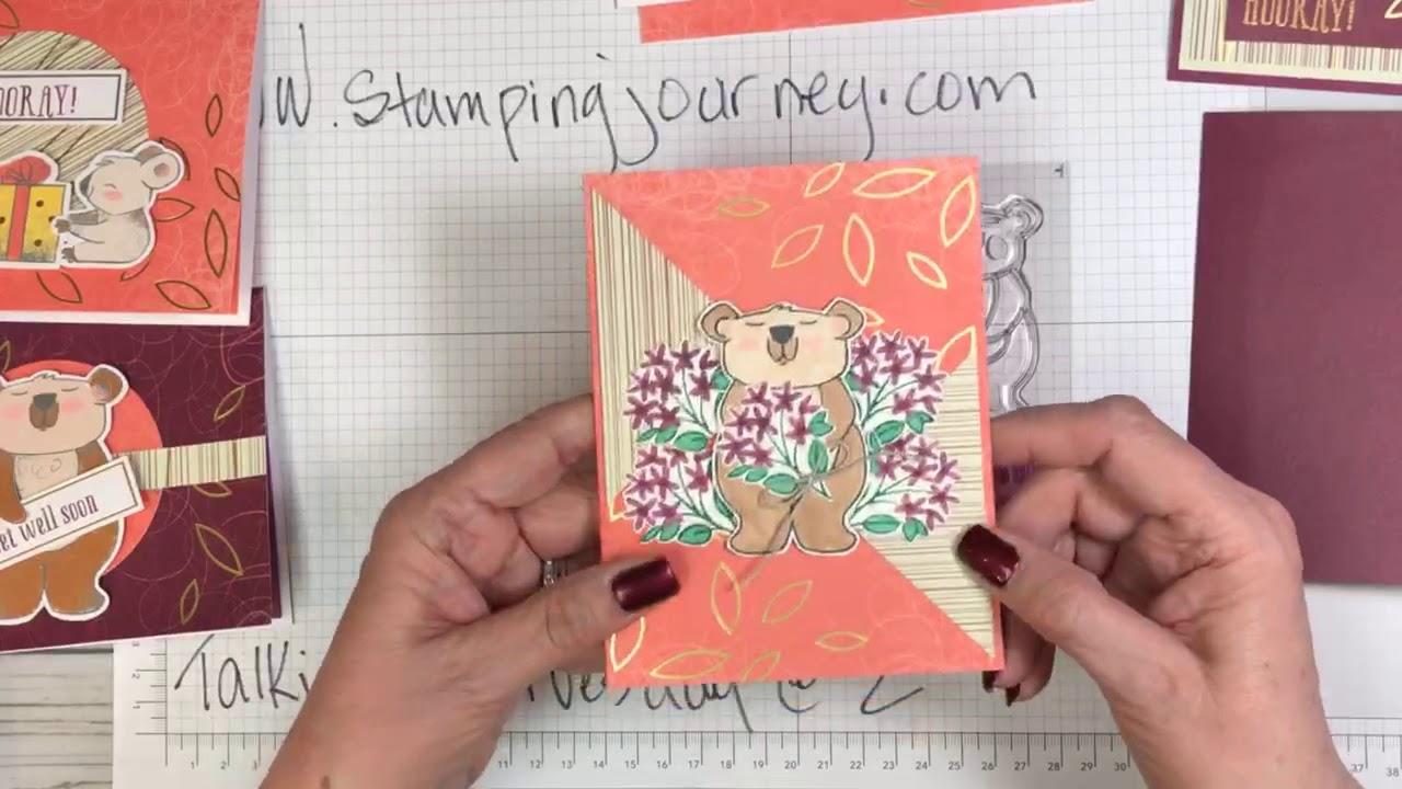 Beary Comforting - the December Paper Pumpkin Kit, my versions!!