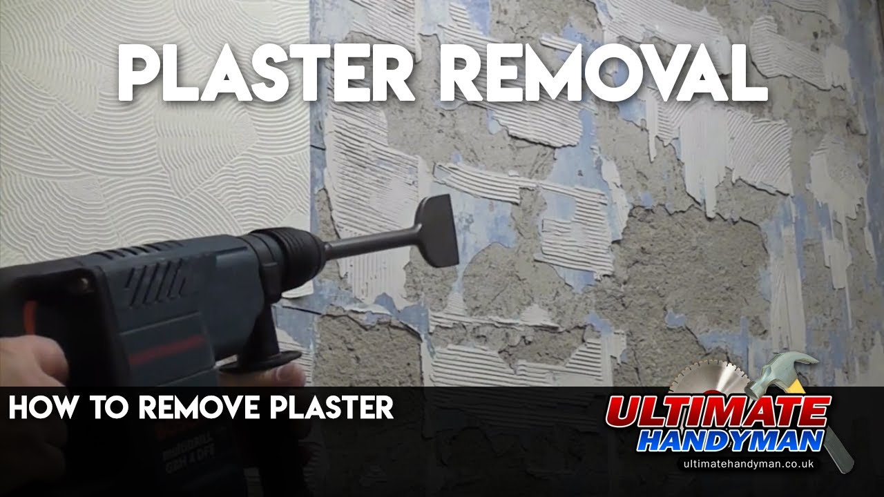 How to remove plaster - YouTube