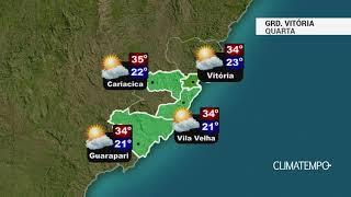 Previsão Grande Vitória - Calor e tempo firme
