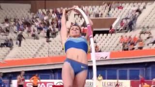 Марина Килипко Прыжки с шестом Квалификация Чемпионат Европы Амстердам 2016
