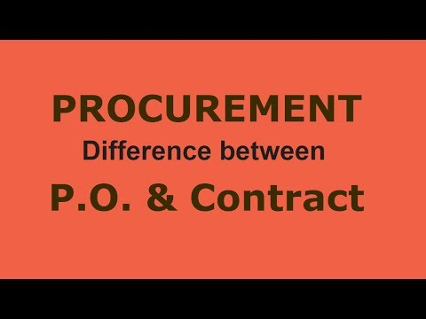Procurement-36 Difference Between P O And Contract In PROCUREMENT In Urdu | Hindi