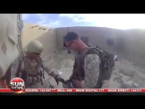 U.S. Marine shot in head saved by helmet