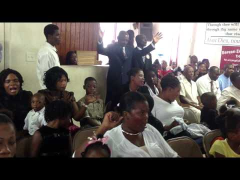 Berean Church service July , Nau, Bahamas