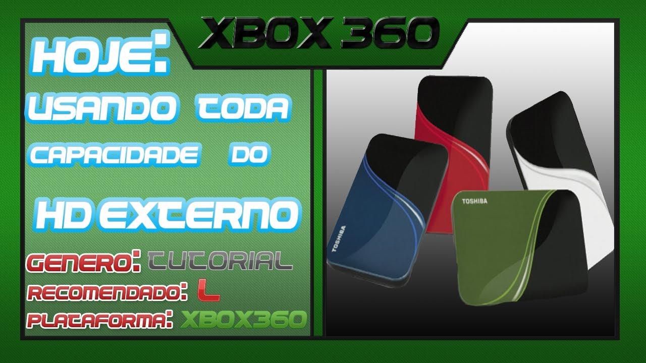 Como usar todo espa o do hd externo no xbox 360 jtag for Hd esterno xbox 360