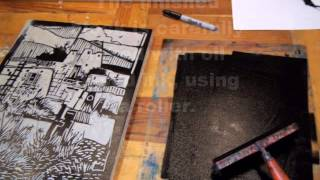 """southwest Mission"" Linocut Demonstration"