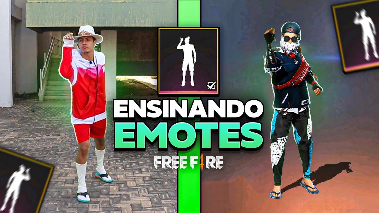 TUTORIAL EMOTES DO FREE FIRE NA VIDA REAL 3 ( ENSINANDO EMOTES )